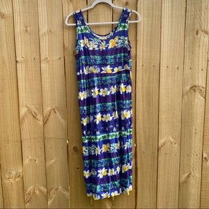 JAMS WORLD Sleeveless Maxi Dress S Floral Hawaiian